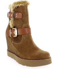 Boots Femme Kanna en Cuir Camel