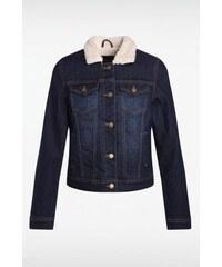 Veste femme jean col fausse fourrure Bleu Coton - Femme Taille L - Bonobo