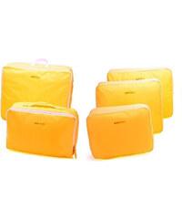 Lesara 5-teiliges Koffer-Organizer-Set - Gelb