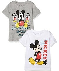 TVMania TV Mania Jungen T-shirt Disney Mickey Mouse, 2er Pack