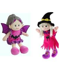 Heunec Set bestehend aus 2 Stoffpuppen Hexe Xynthia und Vampira, »Poupetta Halloween«
