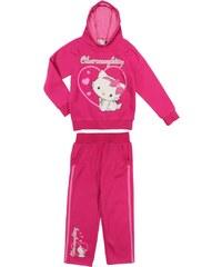 E plus M Dívčí tepláková souprava Hello Kitty - růžová