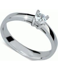 Danfil Luxusní zásnubní prsten z bílého zlata DF1902b