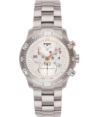 Traser Ladytime Chronograph Silver Steel
