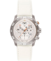 Traser Ladytime Chronograph Silver Leather