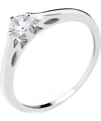 Danfil Luxusní zásnubní prsten z bílého zlata DF2411b