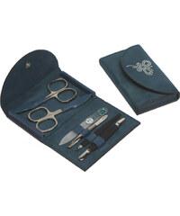 DuKaS Modrá semišová manikúra Solingen s kamínky Swarovski PL21603