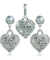 MHM Souprava šperků Srdce M4 Crystal 3404