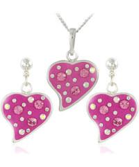 MHM Souprava šperků Srdce M6 Rose 34174