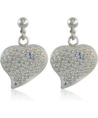 MHM Náušnice Srdce M5 crystal AB 32167