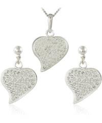 MHM Souprava šperků Srdce M5 Crystal 34164