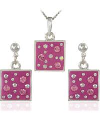 MHM Souprava šperků Čtverec M6 Rose 34160