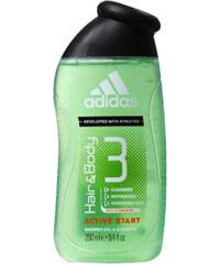 Adidas Sprchový gel a šampon pro muže 3 v 1 Hair & Body Active Start (Shower Gel, Shampoo, Face Wash)