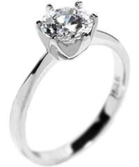 Silvego Stříbrný oblíbený prsten se Swarovski Zirkony 7 mm
