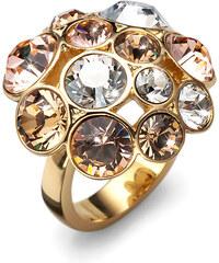 Oliver Weber Prsten s krystaly Swarovski Noche Gold 2485G