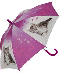 Doppler Dětský holový vystřelovací deštník se vzorem - the cat 72759C