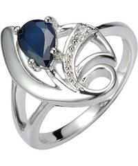 Silvego Stříbrný prsten s přírodním safírem DESIRÉ FNJR0673