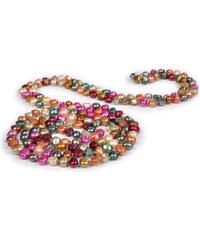 JwL Jewellery Dlouhý perlový náhrdelník z multibarevných pravých perel JL0003