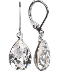 Troli Náušnice Pear 14 mm Crystal