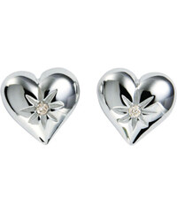 Hot Diamonds Náušnice Just Add Love Two Hearts DE145
