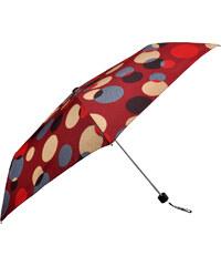 Doppler Dámský skládací mechanický deštník Party Dots - červený 722365D-2