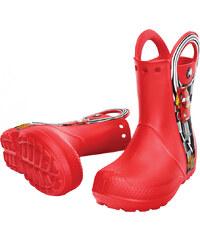 Crocs Červené dětské holínky Handle It McQueen™ Rain Boot Red 14809-610