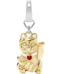 Fossil Přívěsek Kočka s nápisem Good Luck JF00657998