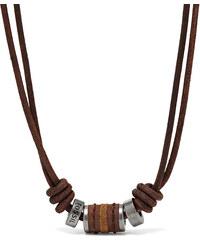 Fossil Pánský kožený náhrdelník JF00899797