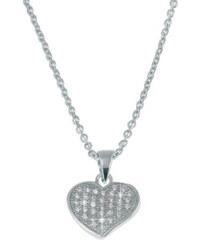 Beneto Náhrdelník srdce s krystaly AGS13/45