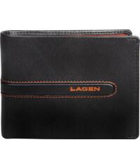 Lagen Pánská hnědá kožená peněženka Brown/Orange 614866-2