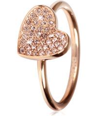 DKNY Bronzový prsten se srdíčkem NJ1996040
