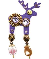 Deers Malá fialová brož Nelis