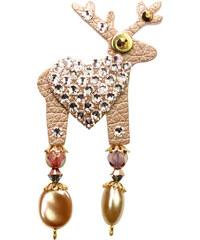 Deers Hnědá brož s jelínkem Olla