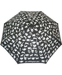 Blooming Brollies Dámský skládací mechanický deštník Flat Cats CFCF