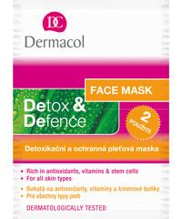 Dermacol Detoxikační a ochranný pleťová maska Detox & Defence 2 x 8 ml