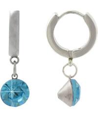 Scream Náušnice s modrým krystalem SU178