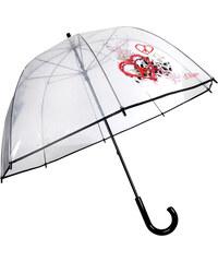 s.Oliver Dámský průhledný holový mechanický deštník Peace Art 74054SO17