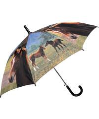 Doppler Dětský holový vystřelovací deštník se vzorem - koně 72757T
