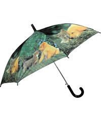 Doppler Dětský holový vystřelovací deštník se vzorem - pes a kočka 72757U