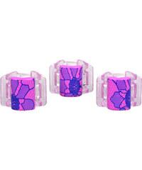 Linziclip Malý skřipec MINI 3 ks - růžový s krajkou