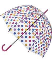 Fulton Dámský průhledný holový deštník Birdcage 2 Small Spots L042-1