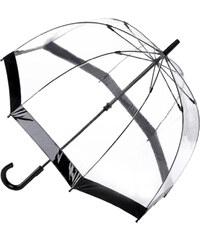 Fulton Dámský průhledný holový deštník Birdcage 1 Black L041-1