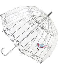 Fulton Dámský průhledný holový deštník Lulu Guinness Birdcage L719