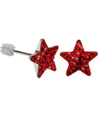 Troli Stříbrné náušnice Star PU10 Light Siam
