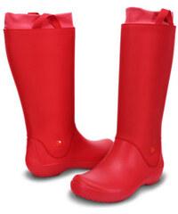 Crocs Dámské holínky RainFloe Boot Red/Red 12424