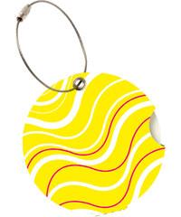 Suitsuit Jmenovka na kufr Addatag P129 Wave Yellow