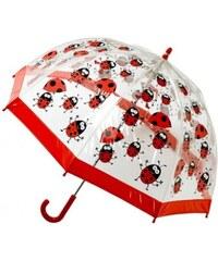 Blooming Brollies Dětský průhledný holový deštník Buggz Kids Stuff Ladybugs BULB