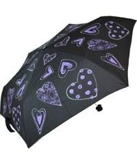 Blooming Brollies Dámský skládací mechanický deštník Purple Hearts EDFHPU