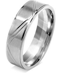 Silvego Snubní prsten pro muže a ženy z chirurgické oceli RRC0465