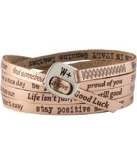 We Positive Wrap náramek v barvě růžového zlata s nápisy 121